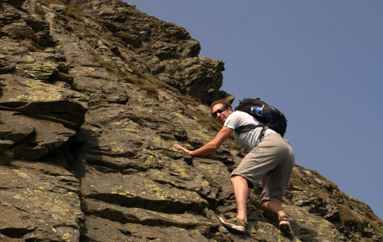 the climb on sharp edge
