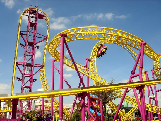 rollercoster tycoon uk colorful theme park Southendonsea
