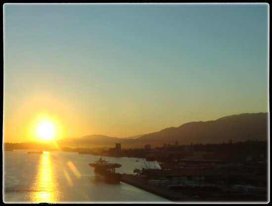 reflectionthursday sunset north vancouver bc