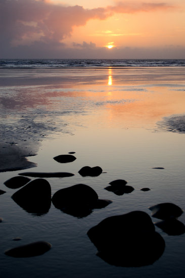 evening westward ho sunset devon