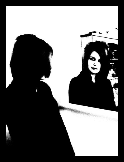 There's A Girl In My Mirror,  I Wonder Who She Is.. Sometimes I Think I Know Her.. Sometim...
