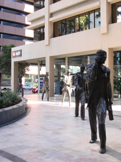 Footsteps in Time Sculptors downtown perth littleollie