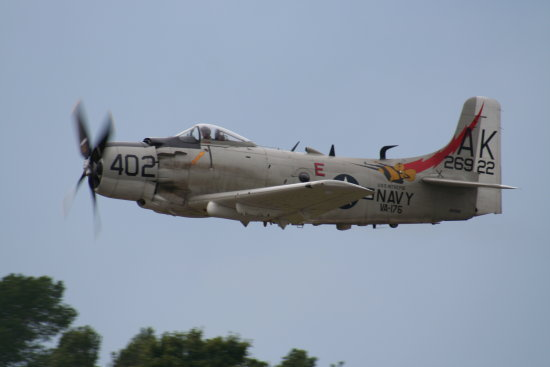 biggin hill international air display show A1H Skyraider