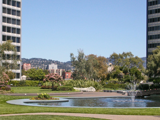 spring oakland architecture building hills garden pond fountain kaiserfph