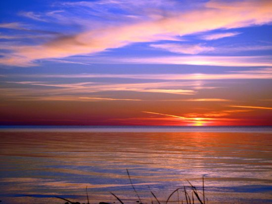 Sunset nature wisconsin lake michigan