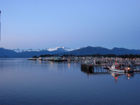 Petersburg Alaska sunset marina
