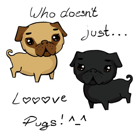 pug pugs dog dogs drawing idam love cute animal digital art picture puppy
