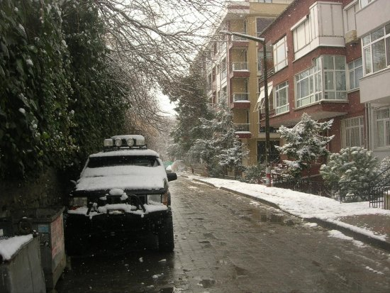 kadikoy istanbul snow winter turkey