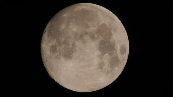 full moon craters sky space