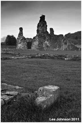Landscape Monochrome Remnants Sawley Abbey Spideylj
