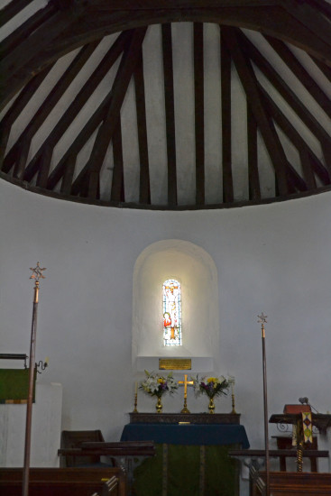 15. St Swithun's Nately Scures Parish Church has a most unusual semicircular apse   http://www....