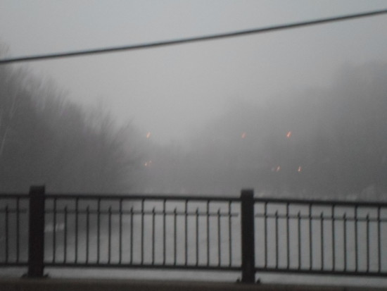 week 7 fog naugatuck naugatuck river bridge bend railing bridge