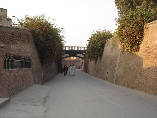 Punjab Pakistan Lahore Fort Building Old Road
