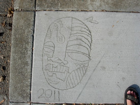 sidewalks oakland concrete art