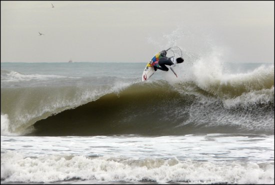 surfing sports water waves storm seascape spain