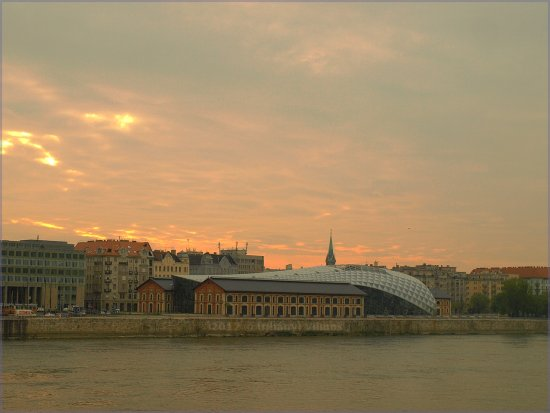 hungary budapest city danube architecture whale sky clouds river sunrise
