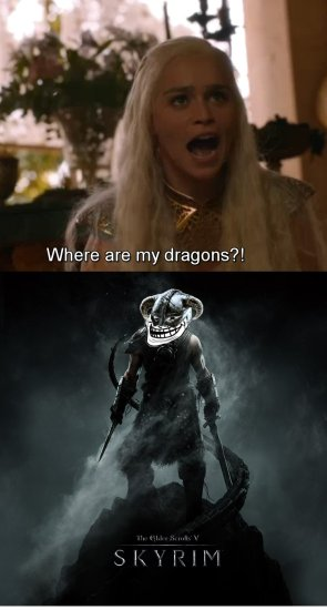 Game of Thrones skyrim dragons trolls meme skyrimtroll DIProgan