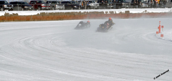 winter powersledraces snowmobileraces beausejour manitoba 2009 sports accident