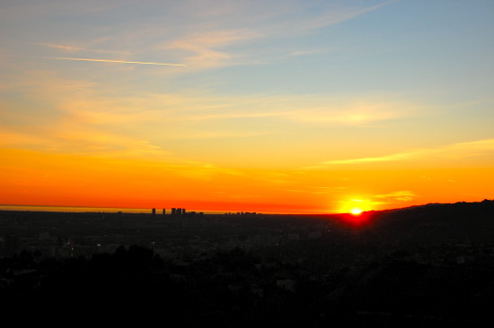 sunset griffith observatory mjghajar