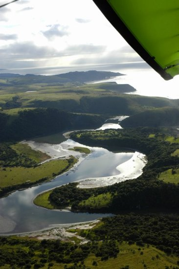 Flying above Double Mouth en route to Kei Mouth via Morgan's Bay