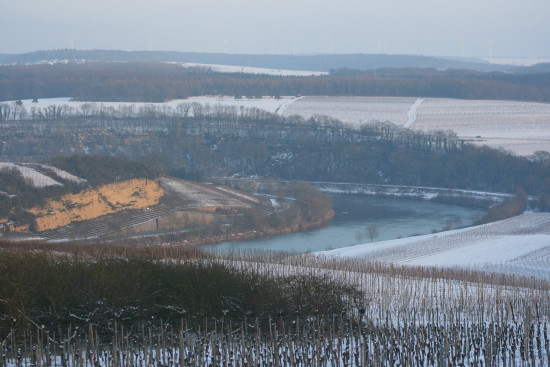 landscape moselle winter luxembourg