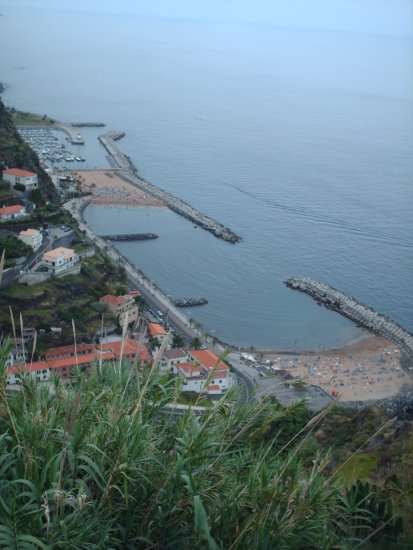 2009 madeira portugal calheta beach artificial sand yellow coast