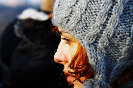 red hair girl irina winter together they lovely eyes