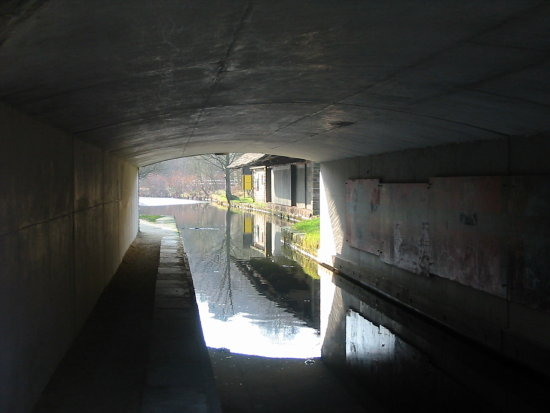 canal dobcross tunnel reflections shadow
