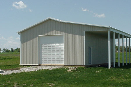 64 Metals Building with Leanto
