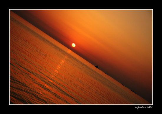 sunset landscape sea summer lesvos island greece