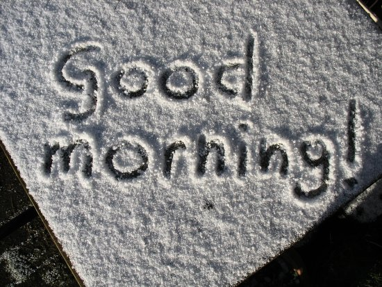 snow hail cold goodmorning text macro