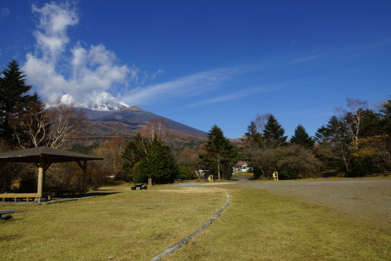 mt. fuji with various clouds unceasely outpouring on; from highland