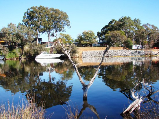 reflectionthursday want car boat parked moored river perth littleollie