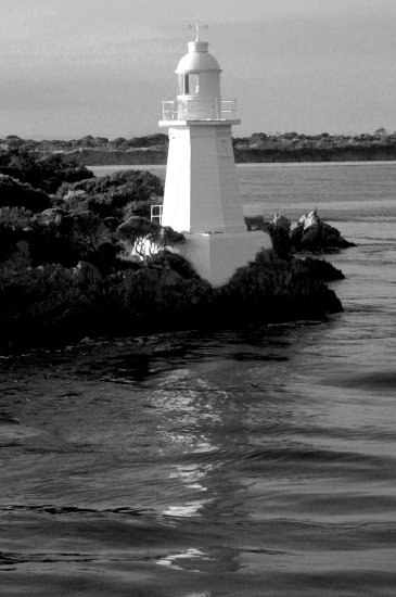 lighthouse BW monochrome