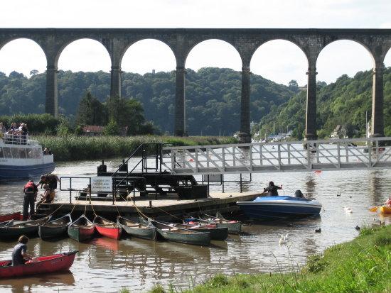 river boats ducks bridge calstock