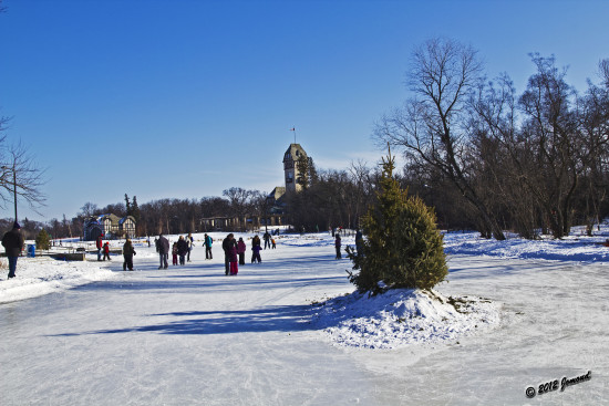 winter snow ice skating assiniboinepark winnipeg canada