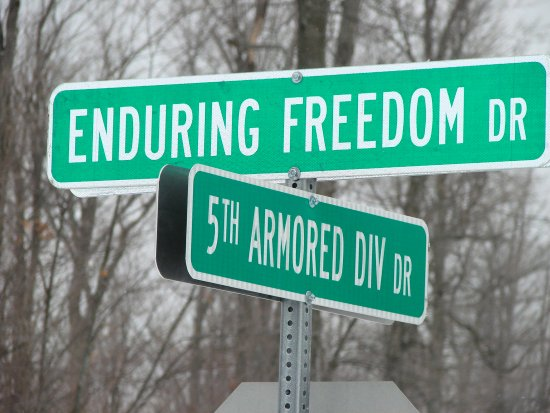 They are renaming some of the streets here on post to reflect the current wars... these are the n...