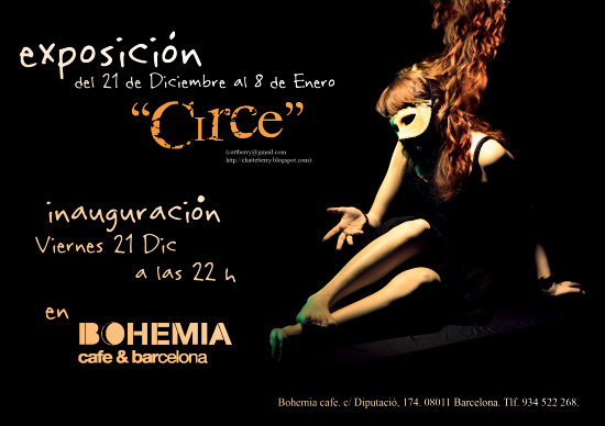 exhibition cattberry circe alba kerz exposicin bohemia caf funk chocolate