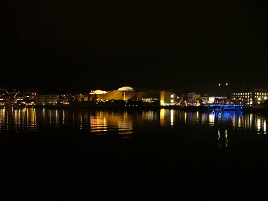 Te Papa, the museum in Wellington New Zealand. The waterfront in Wellington is at its best during...