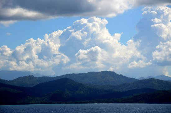 zuiderdam cruise island cuba mountains clouds ocean