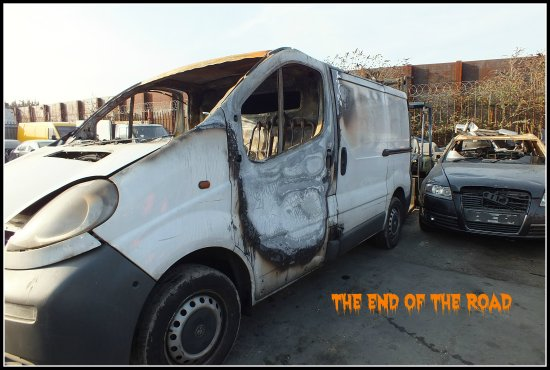 van crime burnt