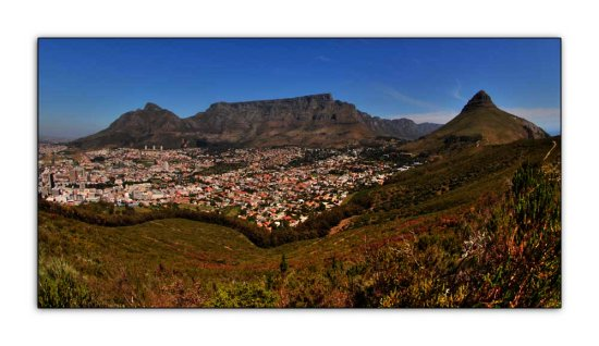 table mountain fisheye landscape cape town