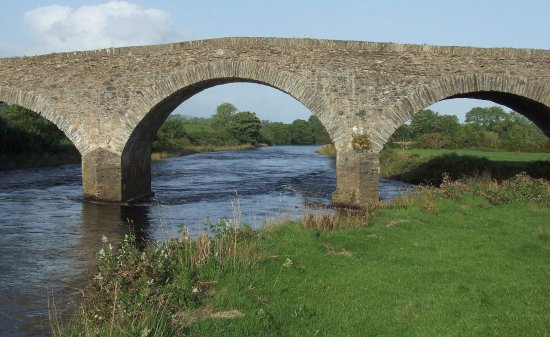 This bridge was built in 1801 at the cost of 1,100 pounds and is still in use to this day.