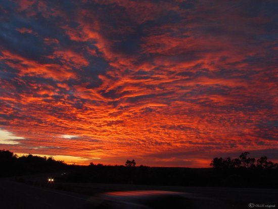 reflectionthursday sunrise lucky passing car perth hills
