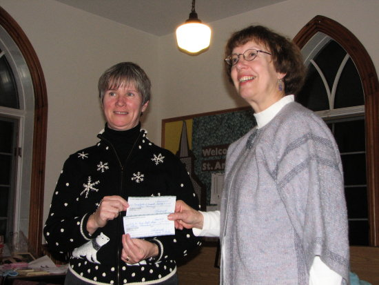 We donated $6276.00 to the main branch of our auxiliary.   $3000.00 goes towards purchasing much ...