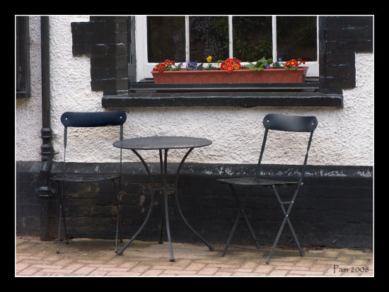 pub pavement cafe seat table bistro