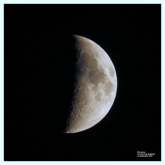 The moon. A view from England 1st September 2014.