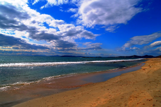 sky blue sea beach seascape winter clouds