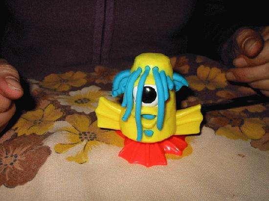 A Play-Doh monster