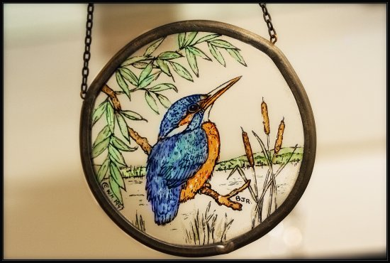Kingfisher stained glass Momento